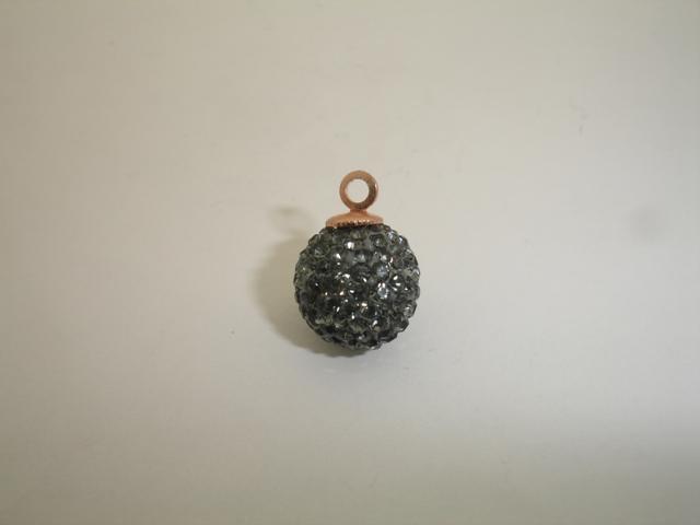 925° SILVER PINK GOLD PLATED SWAROVSKI STRASS BALL 10mm