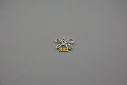 "SILVER 925° ELEMENT OF LUCK ""2011'' 24x19mm"