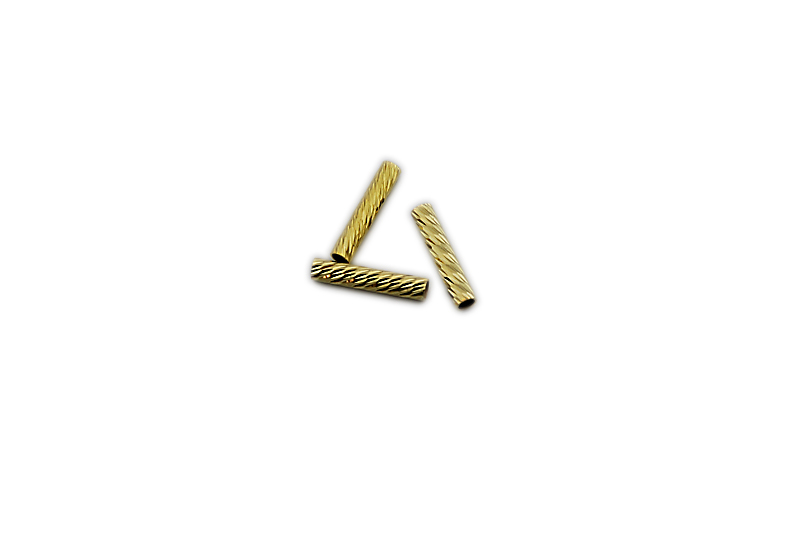 SILVER 925° TUBE GOLD PLATED 20mm