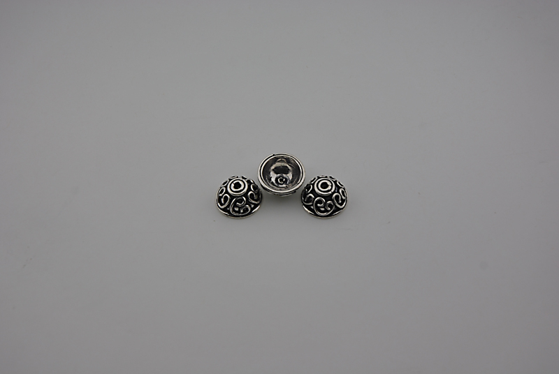 SILVER 925° CAP 13x6,4mm 1,82g/PIECE (3PIECES THE PACK)