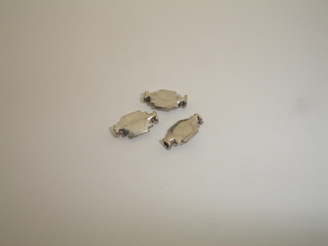 925° SILVER OXIDIZED ACCESSORY 7x12mm 0,81g/PIECE (4PIECES PER PACK)