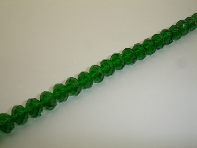 GLASS RONDELLE FACETED 12mm