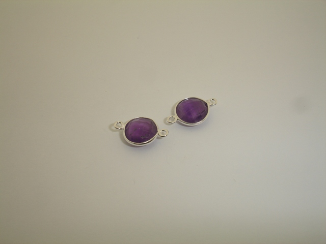 925° SILVER AMETHYST 11mm (2PIECES PER PACK)
