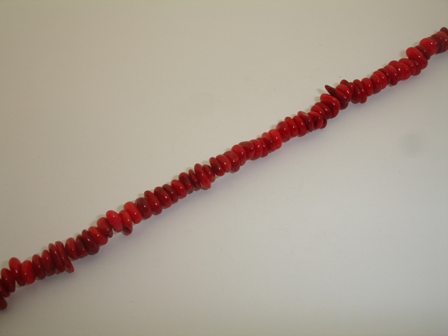 CORAL RED IRREGULAR 6x7mm