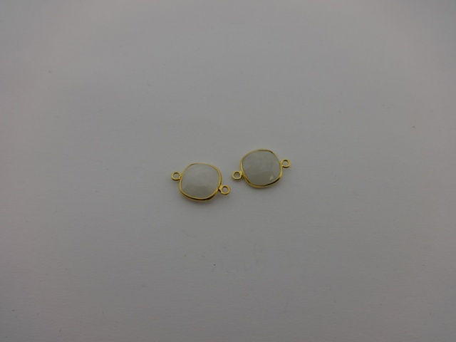 925° SILVER GOLD PLATED MOONSTONE 11x17mm (2PIECES PER PACK)