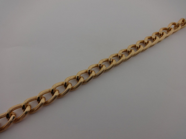 PINK GOLD PLATED CHAIN 12x18mm