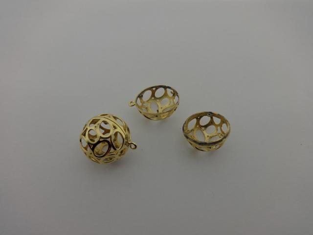 GOLD PLATED BALL 24x28mm ( BRASS )