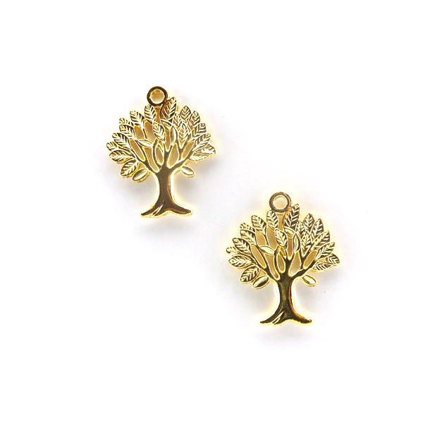 GOLD PLATED TREE 33x40mm