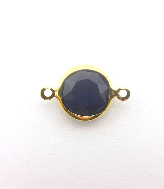 ROUND DARK BLUE COLOR WITH GOLD PLATED FRAME 20x12mm