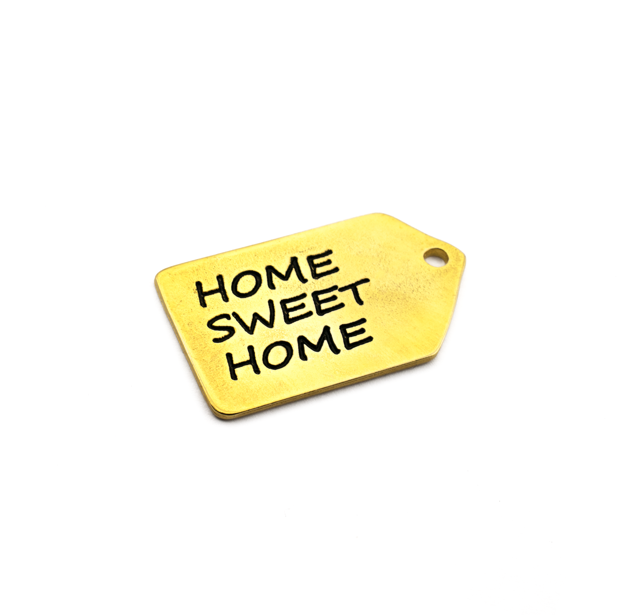 """PENDANT  """"HOME SWEET HOME"""" GOLD PLATED 47x27mm"""