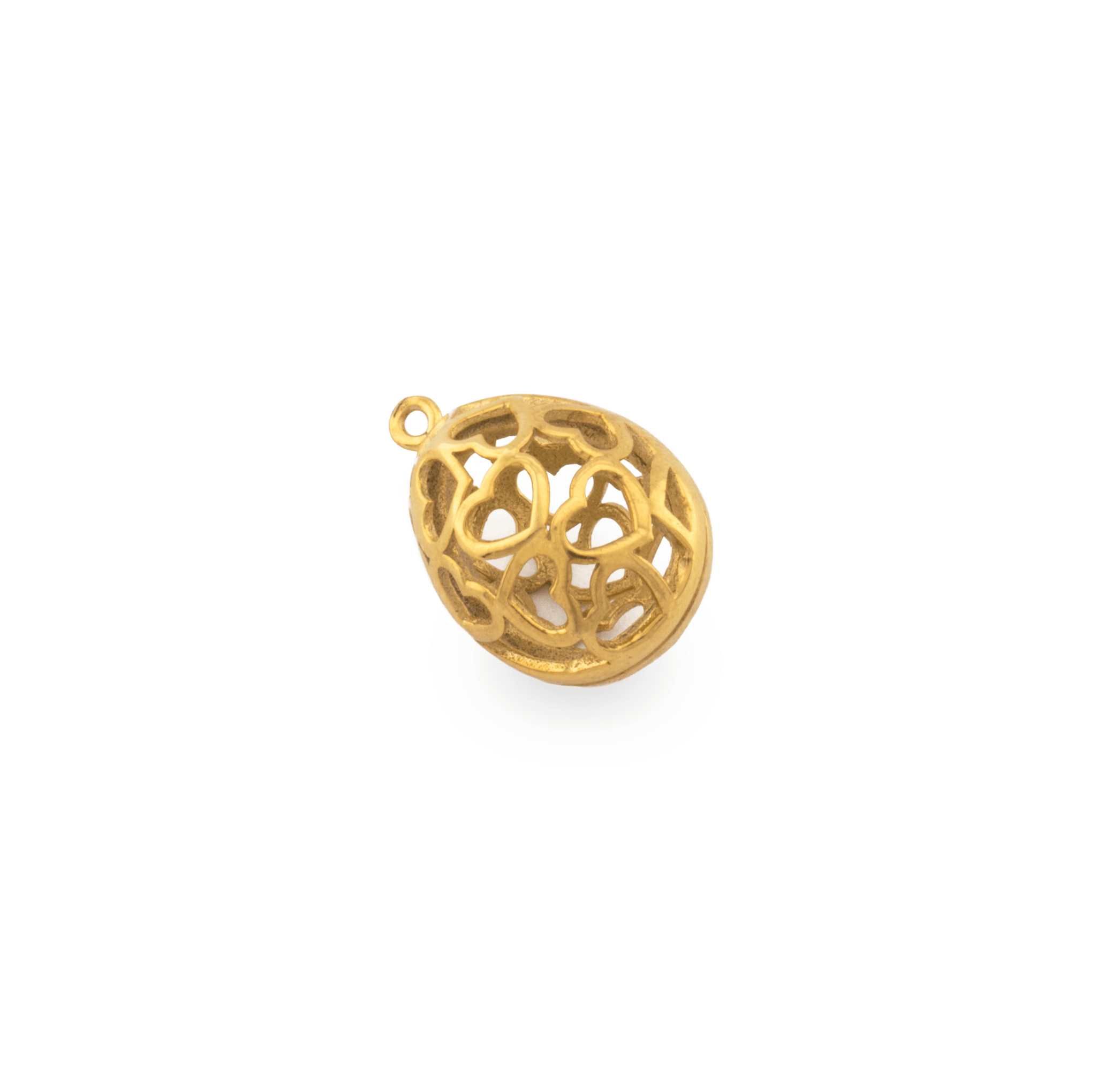 GOLD PLATED EGG 22x15mm ( BRASS )