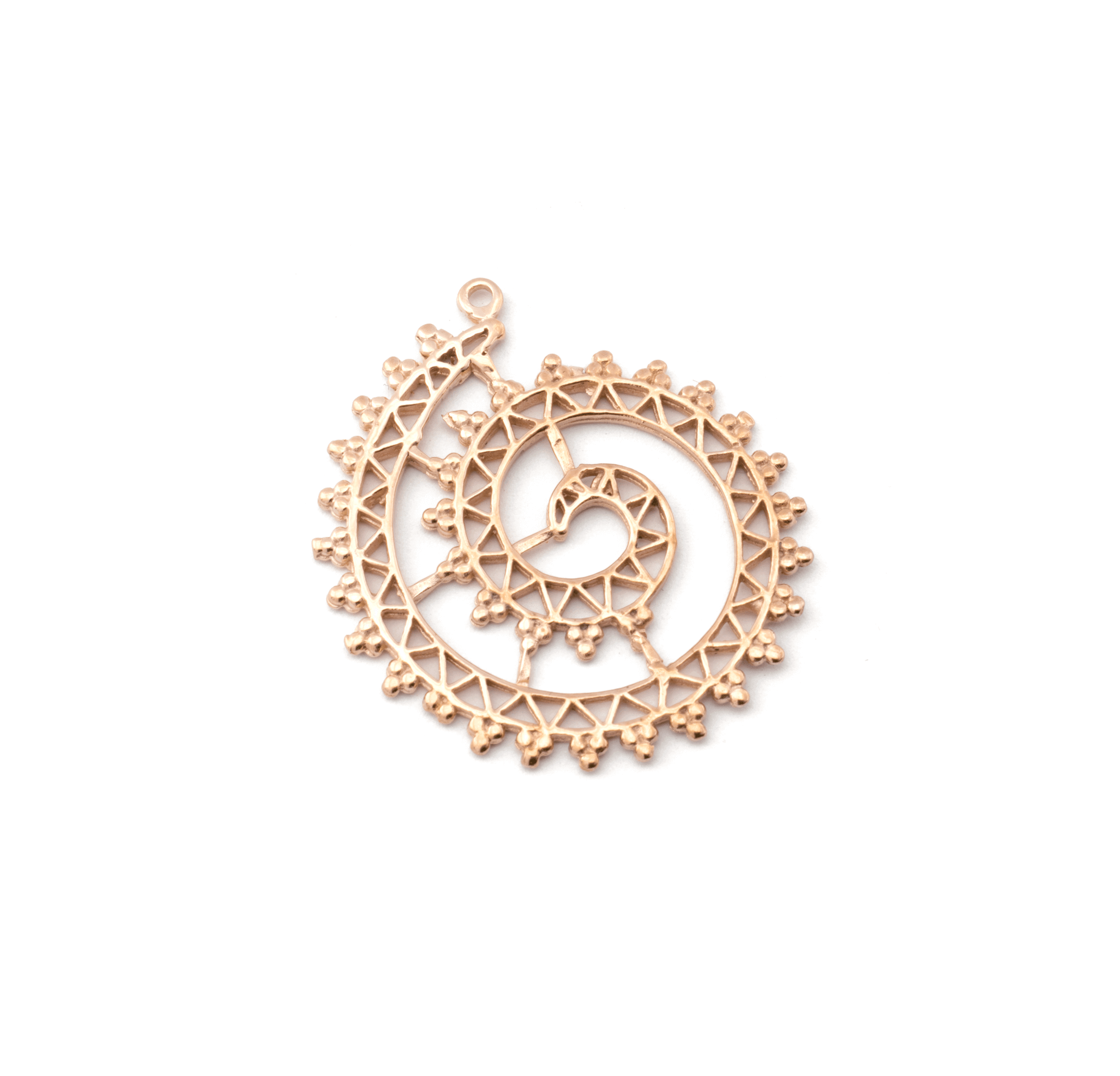 ELEMENT PINK GOLD PLATED 30mm (BRASS)