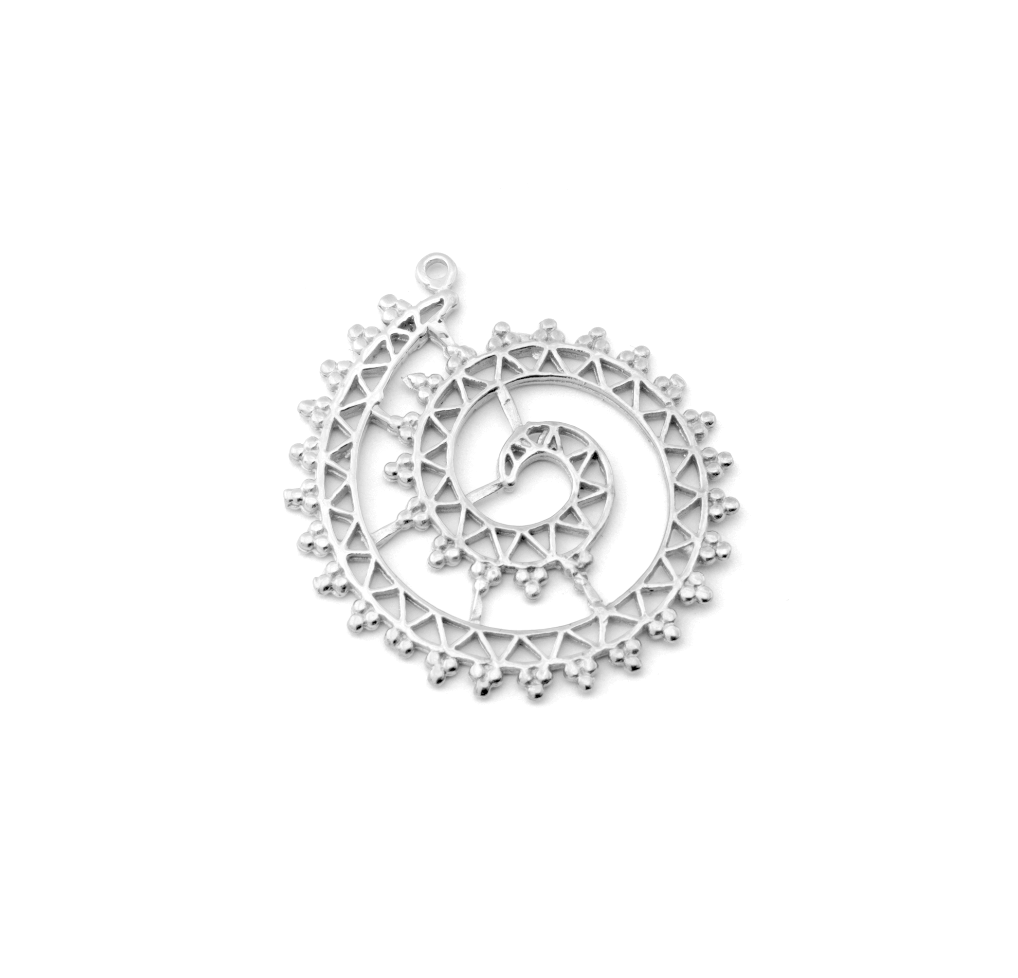 ELEMENT SILVER PLATED 30mm (BRASS)
