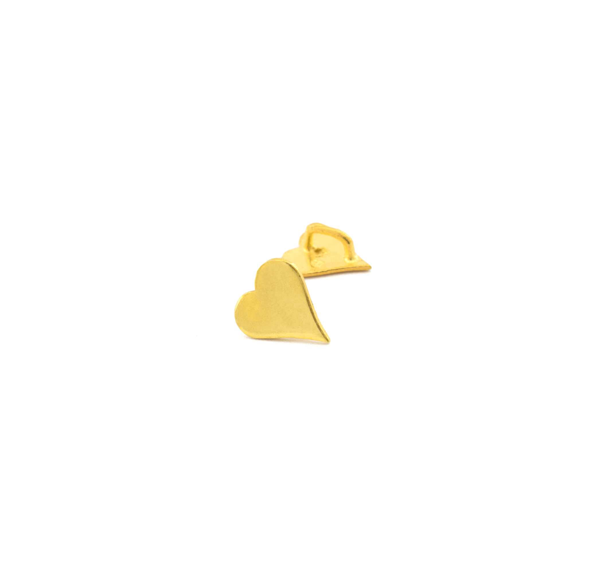 925° SILVER HEART GOLD PLATED 9mm