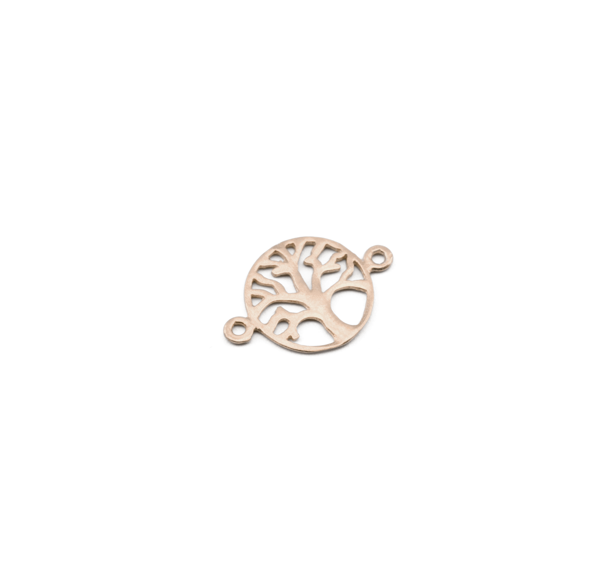 925° SILVER TREE OF LIFE PINK GOLD PLATED 13mm